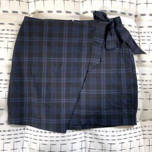 Y2k back to school Express faux wrap mini skirt 6